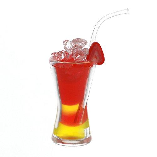 MyTinyWorld Miniature Shanghai Punch Cocktail avec Fraise Tranche