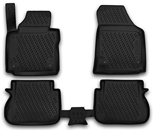 Element EXP.CARVLK00003 Passgenaue Premium Antirutsch Gummimatten Fußmatten für VW Caddy IV - Jahr: 15-20, Schwarz, Passform