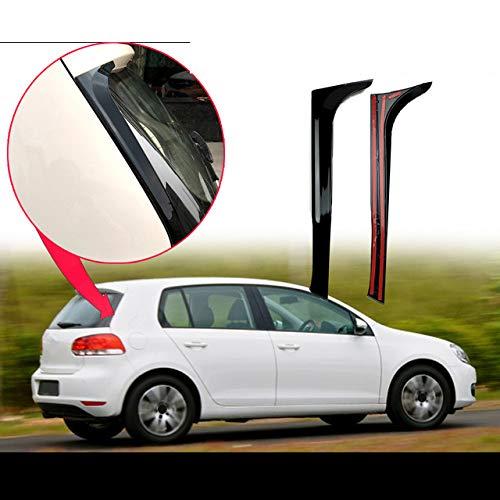Liu xinling ABS Gloss Schwarz Hinten Fenster Flügel Seite Spoiler Winglet Für Volkswagen Golf 6 MK6 2008-2013 (Nicht Fit Für Golf 6 GTI/R!!!),Not for Golf 6 GTI r
