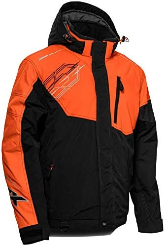 Castle X Men's Phase Jacket in Black/Orange Size Small