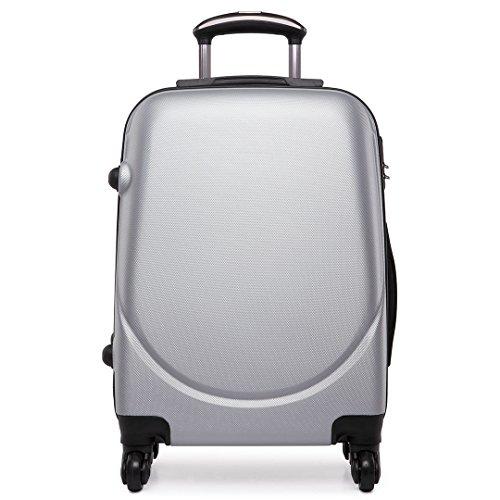 Miss Lulu Unisex-Erwachsene L1602 Gepäck-Koffer, grau, S