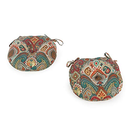 Greendale Home Fashions AZ5816S2-ASBURYPARK Painted Desert Outdoor 15-inch Bistro Seat Cushion (Set of 2)