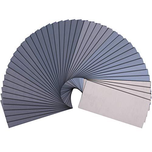 SIQUK 90 Stück Schleifpapier mit Körnung 400 bis 5000 Trocken und Nass Sandpapier Set 9 x 3.6 Zoll Schleifpapier für Metall Glas Stein Jade Holz