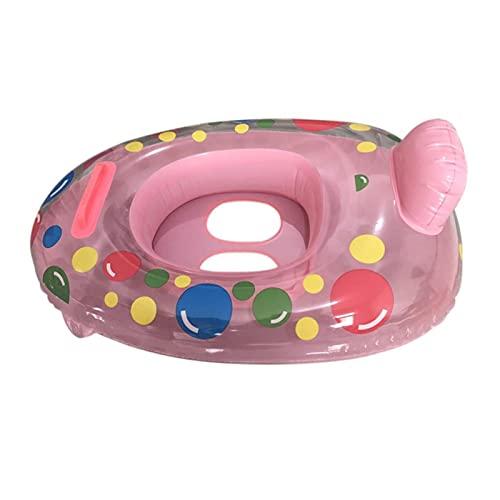 WWWL Flotador Hinchable Círculo de Flotador de Cuello Espesado de baño Accesorios de Piscina para bebés Herramienta de bebé Dibujos Animados Impresión de Seguridad Infantil