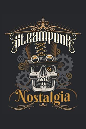 Steampunk Nostalgia: Gentleman Totenkopf Rollenspieler Cosplayer Fantasy Geschenke Notizbuch liniert (A5 Format, 15,24 x 22,86 cm, 120 Seiten)