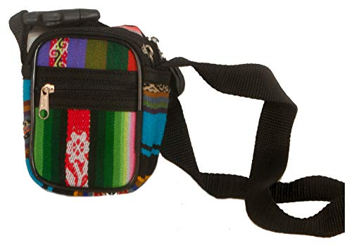 Camera tas klein digitaal compact en armband van traditionele Peruaanse Aguayo-stof