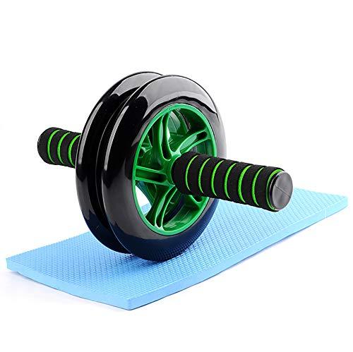 HUI JIN - Rodillo de ejercicio para abdominales y abdominal de 2 ruedas, para entrenamiento de estómago y núcleo para ejercicios abdominales eficaces, músculos del hombro, músculos del brazo, muslo, verde