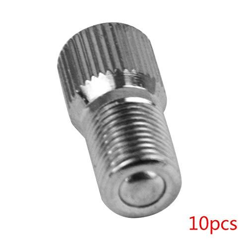 Weilifang 10pcs V2B Rueda del neumático del Metal de la Tapa V2B Inflar través de la válvula de vástago extensión del suplemento Caps Accesor Cubierta