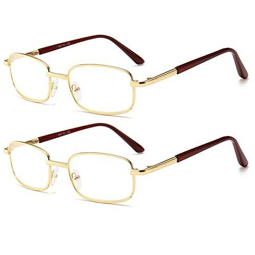 Leesbril, blokkerend, blauw licht, voor vrouwen en mannen, uv-bescherming, vegen, scharnieren, leesbril voor computers, klassieke lezers met metalen frame