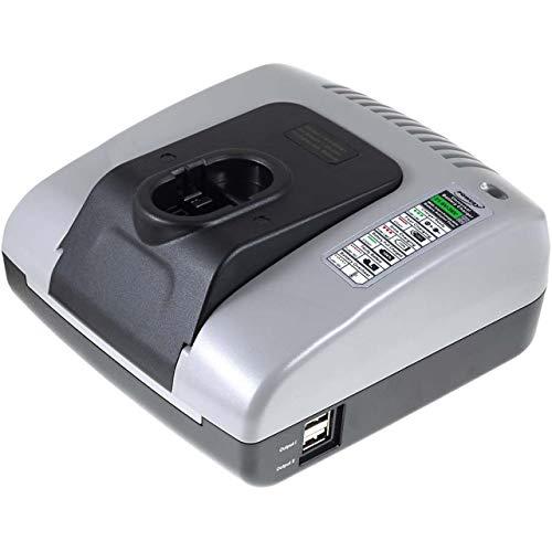 Powery Cargador de batería con USB para Bosch Amoladora Angular GWS 14,4V