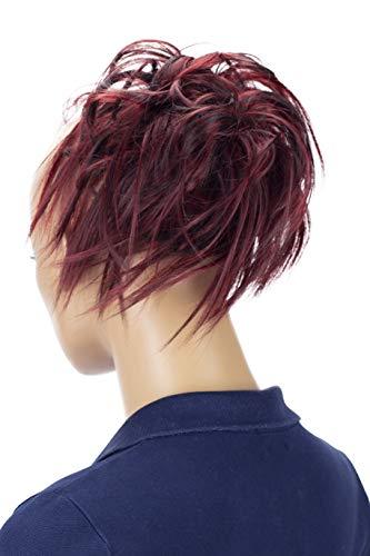 PRETTYSHOP Hairpiece Hair Rubber Scrunchie Scrunchy Updos VOLUMINOUS Wavy Messy Bun red dark brown mix #2H113A G28F