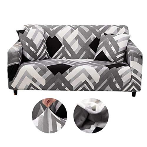 KKDIY Funda de sofá Elasticidad Funda Antideslizante Funda de sofá para Sala de Estar Funda de Spandex Universal para sofá elástico de 1/2/3/4 plazas-22,4