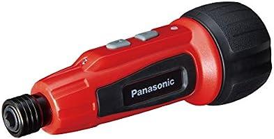 パナソニック USB充電ミニドライバーEZ7412(3.7V) ミニック miniQu 内蔵電池 850mAh 本体・USB充電ケーブル・ビット5本セット レッド EZ7412S-R