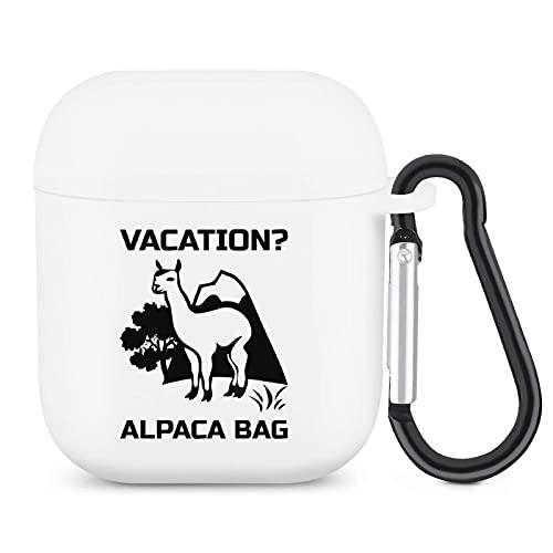 Vacation Alpaca Bag Airpods Case z brelokiem Ochrona całego ciała Silikonowy pokrowiec kompatybilny z Apple Airpods 2 i 1