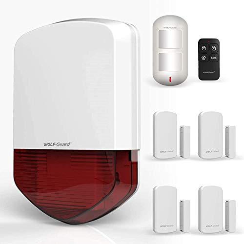 L allarme WiFi Wolf-Guard, l allarme acustico e luminoso esterno viene utilizzato nel garage, nel giardino e nel sistema di allarme domestico wireless domestico