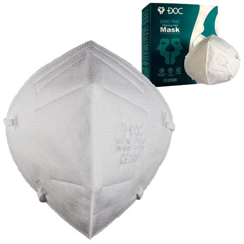 ISN - DOC-TNC - FFP3NR - 30 FFP3-Masken CE-Zertifiziert, 5 Lagen ohne Ventil, Schutz vor Staub und Partikeln, High Efficiency BFE≥98, 30 Stück