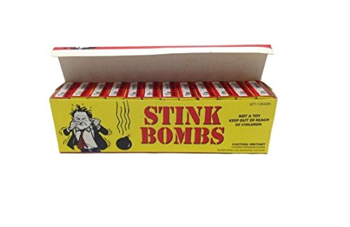 Stink Bombs Stinky Glass Fart Nasty Smelly Joke Prank Gag Smelly Odor Pack of 36