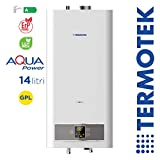 TERMOTEK AQUAPOWER C14S - SCALDABAGNO A GAS CAMERA STAGNA 14 LITRI A GPL LowNOx