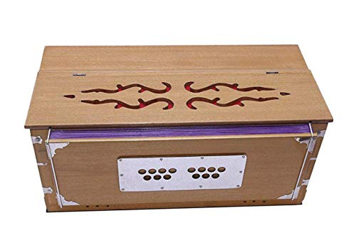 Harmonium 3.5 Octave 9 Stopper-Kopplerfunktion Sieben Faltenbalg 42 Tasten Natürliche Farbe mit Tasche,UM UNSERE KOMPLETTE HARMONIUM-KOLLEKTION ZU ÜBERPRÜFEN