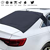 """Homiar Rear Windshield Snow Cover,57.1""""x35.4"""" Universal Weatherproof Windscreen Car Cover, Exterior Magnetic Ice Frost Dust Shield Guard with Flaps,Back Sun Shade Protector for Trucks,Vans"""