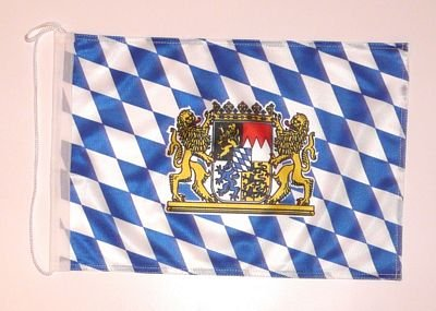 Bootsflagge Freistaat Bayern mit Löwen Fahne Flagge