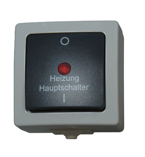 Kopp 565356002 Nautic Heizungs-Hauptschalter, grau