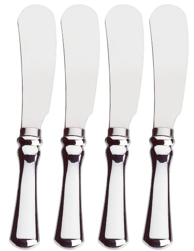 Amco Stainless Steel Spreader, Silver, Set of 4 -