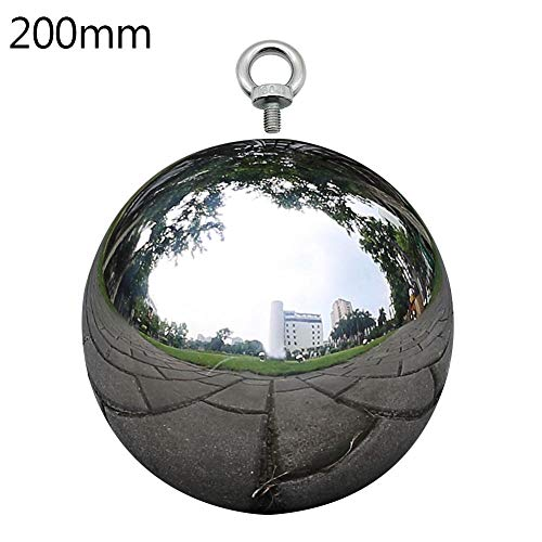 20 cm//7.8 inch Garden Sphere Mirror Gazing Ball,Black Stainless Steel Polished Reflective Smooth Hollow Globe Ball,Durable Colorful and Shiny Decorations Addition to Garden Patio Yard Home