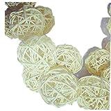 naturali a colori, 3cm, 10 Pezzi/set Tabella del rattan di vimini Ball Decorazione di ornamenti cerimonia nuziale della festa di Natale Desk Hanging Garden Decoration