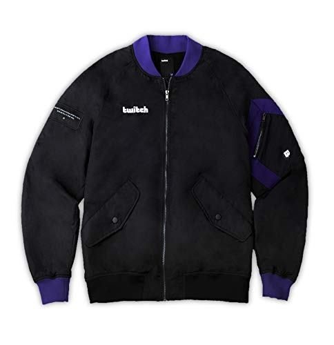Twitch Tactical Bomber Jacket for Online Live Video Streamers and Gamers – Sand (M)