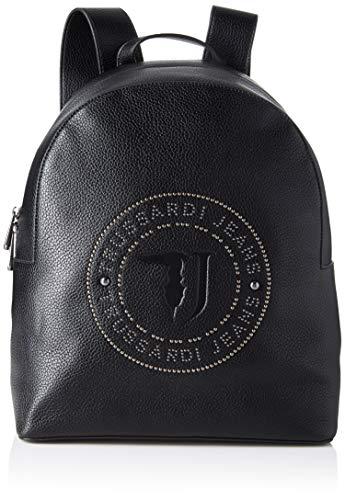 Trussardi Jeans Harper Backpack Md Tumbled Eco, Zaino Donna, Nero...