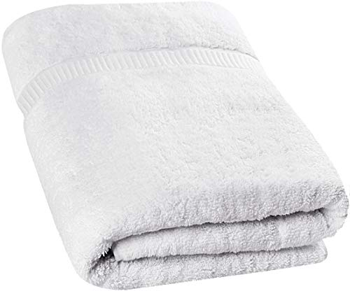 Utopia Towels - Luxurious Jumbo Bath Sheet (35 x 70 Inches, White) - 600 GSM 100% Ring Spun Cotton Highly Absorbent and Quick Dry Extra Large Bath Towel - Super Soft Hotel Quality Towel