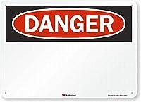 壁芸術装飾危険(空白)警告錫標識金属標識通知安全保障サイン通り装飾