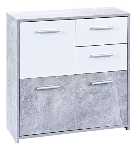 Links Mobile Buffet Cemen A17 Grigio/Bianco