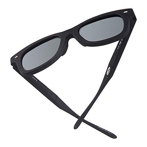 HAOQI Electrónico Protección UV Gafas,Hombre Polarizadas Gafas De Sol,Mujer Deportivas Ciclismo Correr Pesca Gafas,Conducir Unisex Surf-A X