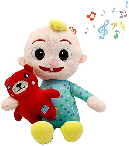 Cartoon Music JJ Plush Toys Singing JJ Plush Figures Doll Stuffed Animal for Soothing Before Going to Bed Children's Plush Gifts with Music
