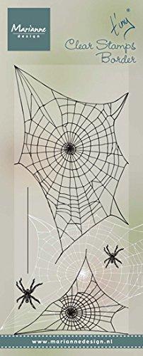 Marianne Design Sellos Transparentes, Borde de Tela de Araña, para Manualidades de Estampado y Sellado, plastico, 75x185