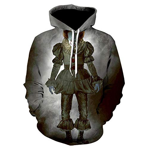 ZZTXF Stephen Kings It Clown Unisex Hoodies Mode Streetwear Casual Men 3D Sweatshirt Harajuku Hoody Hip Hop Sudaderas Hombre Jacke-We-1020_5XL