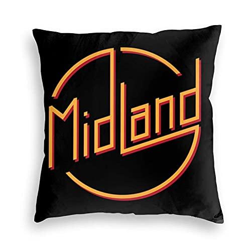 BEDKKJY Midland Band Funda de Almohada de Terciopelo Funda de Almohada para el Suelo Cojín para sofá