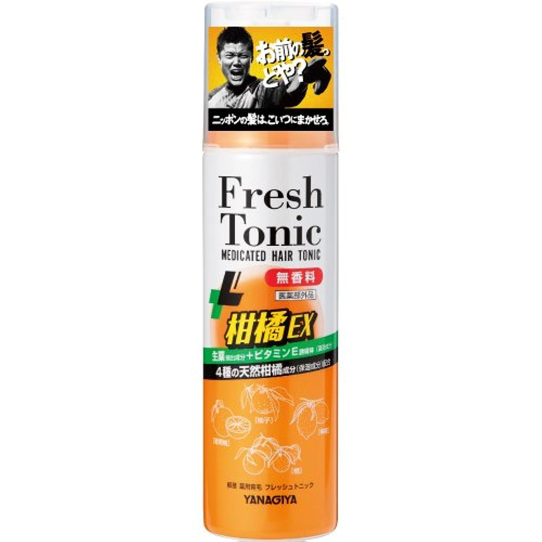 ひらめき小川おもしろい柳屋 薬用育毛 フレッシュトニック 柑橘EX <無香料> 190g