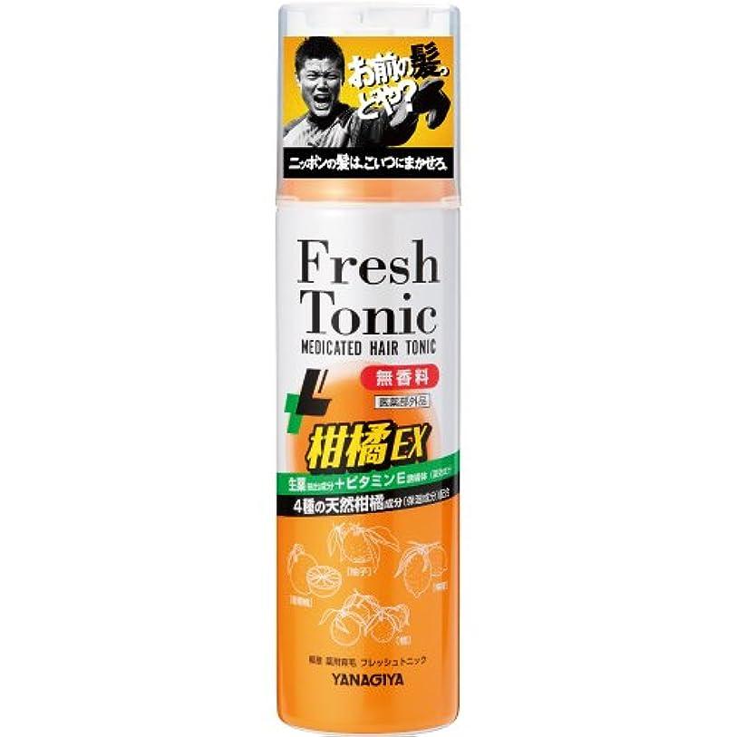 囲む怖い二度柳屋 薬用育毛 フレッシュトニック 柑橘EX <無香料> 190g