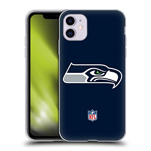 Head Case Designs Offizielle NFL Einfarbig Seattle Seahawks Logo Soft Gel Handyhülle Hülle Huelle kompatibel mit Apple iPhone 11