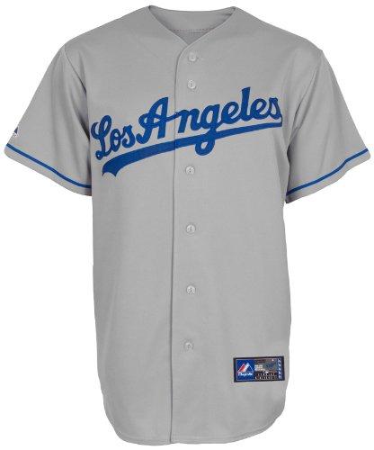 MLB Herren Los Angeles Dodgers Adrian Gonzalez Road Replica Baseball Trikot (Road Grey, Small)