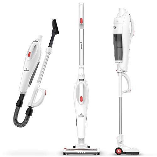 MOOSOO Cordless Vacuum Cleaner, 5 in 1 Lightweight Stick Vacuum with 17Kpa Powerful dedicated to gaps, corner, high place, Home, Hard Floor, Car, Pet U19 Series