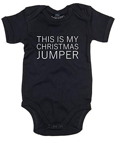 This is My Christmas Jumper, bébé Grandir - Noir/Blanc 3-6 Mois