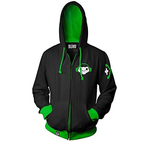 DJ Lúcio Correia dos Santos Costume Hooded Sweatshirt Hoodie Zipper Jacket (S, Black)