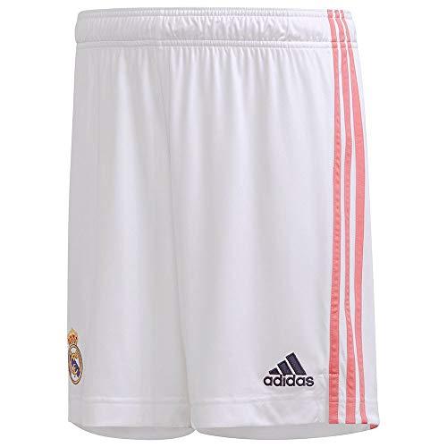 Real Madrid Stagione 2020/21 Pantaloncini da casa Ufficiale, Unisex, Bianca, XXXL