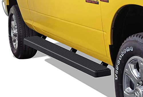 APS iBoard Running Boards 5-inch Matte Black Compatible with Ram 2500 3500 2010-2021 Mega Cab (Nerf Bars Side Steps Side Bars)