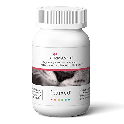 Felimed-Dermasol für Katzen/Katzen-Vitamine/Aminosäuren, Bockshornklee,Hirse/Unterstützung der Haut, glänzendes Fell