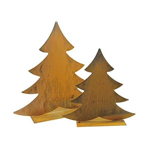 Albero di Natale Tann Albero 46cm metallo ruggine Decorativa da giardino ruggine